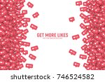 vector 3d social network like... | Shutterstock .eps vector #746524582