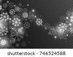 vector magic falling snow... | Shutterstock .eps vector #746524588