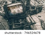 horror in tv   Shutterstock . vector #746524678