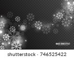 vector magic falling snow... | Shutterstock .eps vector #746525422