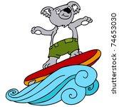 an image of a koala going... | Shutterstock .eps vector #74653030