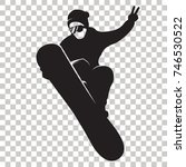 snowboarder silhouette isolated ... | Shutterstock .eps vector #746530522