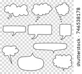 bubble speech set  vector | Shutterstock .eps vector #746538178