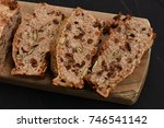 homemade healthy bread with... | Shutterstock . vector #746541142