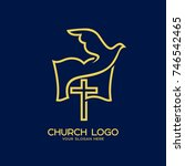 church logo. christian symbols. ... | Shutterstock .eps vector #746542465