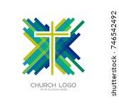 church logo. christian symbols. ...   Shutterstock .eps vector #746542492