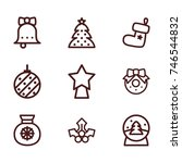 christmas line icon collection | Shutterstock .eps vector #746544832