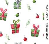 seamless watercolor pattern...   Shutterstock . vector #746546542
