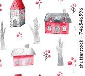 watercolor seamless pattern...   Shutterstock . vector #746546596