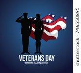 veterans day armistice day... | Shutterstock .eps vector #746550895