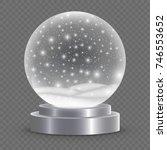 Christmas Snow Globe Isolated....