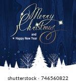 christmas decoration  christmas ...   Shutterstock . vector #746560822