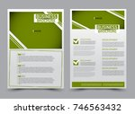 green flyer design template.... | Shutterstock .eps vector #746563432