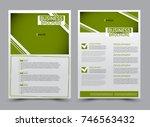 green flyer design template.... | Shutterstock .eps vector #746563432