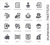 personal   business finance... | Shutterstock .eps vector #746575252