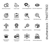 seo   internet marketing icons... | Shutterstock .eps vector #746577832