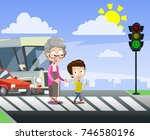 vector cartoon illustration of... | Shutterstock .eps vector #746580196