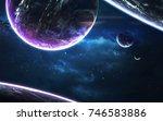 science fiction wallpaper.... | Shutterstock . vector #746583886