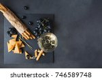 cheese plate served with... | Shutterstock . vector #746589748