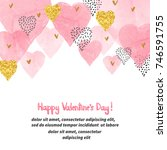 valentines day background with... | Shutterstock .eps vector #746591755
