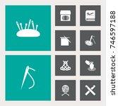 set of 10 handcraft icons set...   Shutterstock .eps vector #746597188