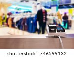 look out from the payment... | Shutterstock . vector #746599132