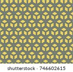 seamless geometry grid graphic... | Shutterstock .eps vector #746602615