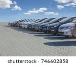 cars for sale stock lot row.... | Shutterstock . vector #746602858
