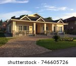 country house entrance | Shutterstock . vector #746605726