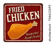 Fried Chicken Vintage Rusty...