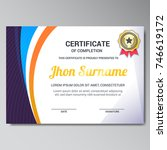 modern certificate design... | Shutterstock .eps vector #746619172