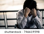 business man is stressed from... | Shutterstock . vector #746619598