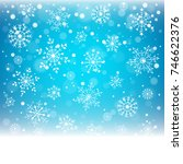 christmas snowflakes and... | Shutterstock .eps vector #746622376