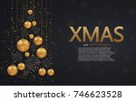 vector modern christmas or 2018 ... | Shutterstock .eps vector #746623528