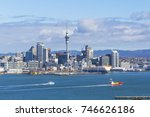 auckland view from mt victoria... | Shutterstock . vector #746626186