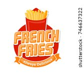 fast food restaurant or bistro... | Shutterstock .eps vector #746637322