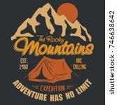 adventure t shirt. outdoor... | Shutterstock .eps vector #746638642