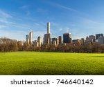 central park ball fields  | Shutterstock . vector #746640142
