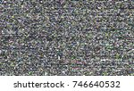 glitch background. computer... | Shutterstock .eps vector #746640532