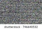 glitch background. computer... | Shutterstock .eps vector #746640532
