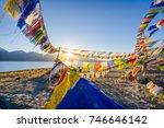 pangong lake in autumn  leh... | Shutterstock . vector #746646142