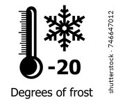 frost icon. simple illustration ... | Shutterstock .eps vector #746647012