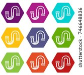clog in the pipe icon set many... | Shutterstock .eps vector #746648836