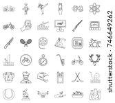 sport icons set. outline style... | Shutterstock .eps vector #746649262