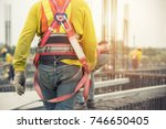 working at height equipment.... | Shutterstock . vector #746650405