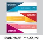 set of modern colorful banner... | Shutterstock .eps vector #746656792