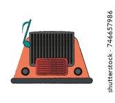 old radio stereo   Shutterstock .eps vector #746657986