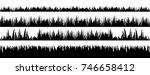 vector set of black grass...   Shutterstock .eps vector #746658412