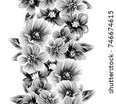 abstract elegance seamless... | Shutterstock .eps vector #746674615