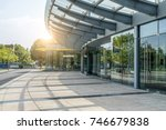 town square in financial... | Shutterstock . vector #746679838